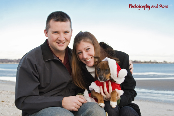 Pet Christmas Card With Puppy Elvis And His Adopters