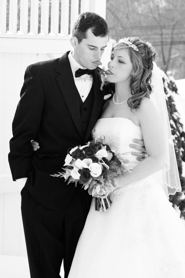 bride and groom Joking around / CT wedding photographer