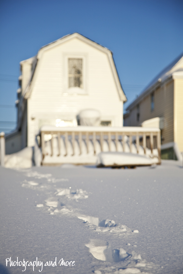 Footprints | snow photography CT