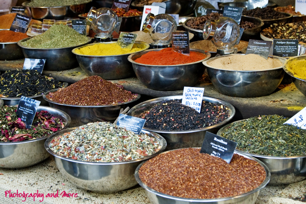 Spices and herbs at union square green market / NYC photographer