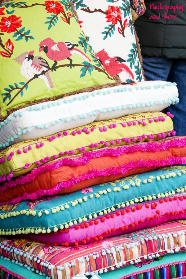 colorful fabrics union square christmas market / nyc photography