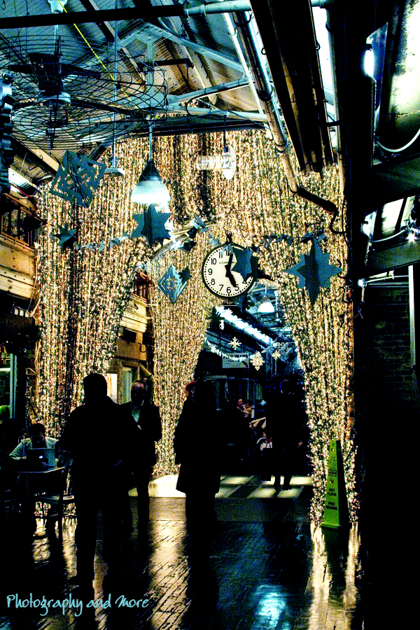 Photograph of Chelsea Market in NYC at Christmas 2010