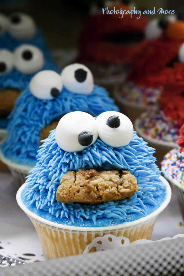 Photograph of cookie monster cup cakes NYC