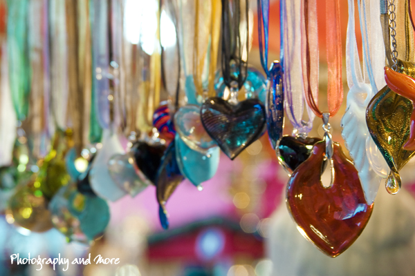 Christmas Market NYC 2010 - photograph of glass necklace ornaments
