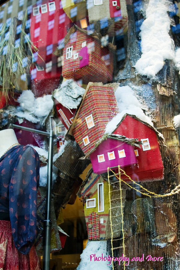 Photograph of Anthropologie window display 2010 - tree houses