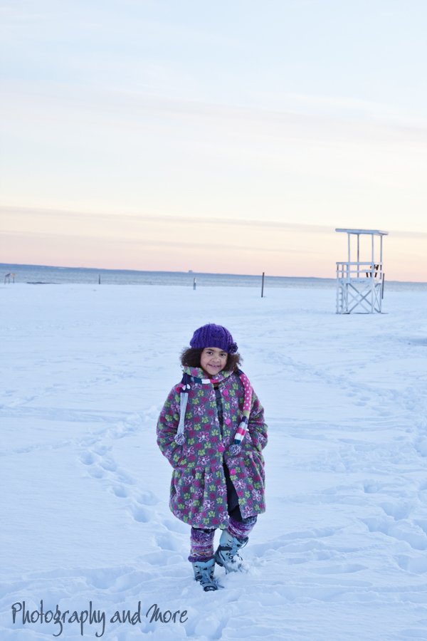 young girl at Silver sands beach | CT kid photographer