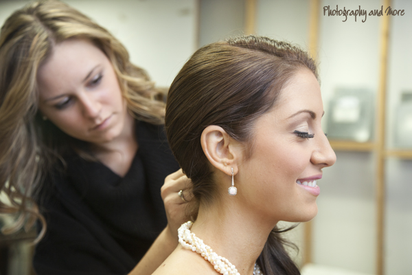 Getting the hair done | CT Wedding photographer