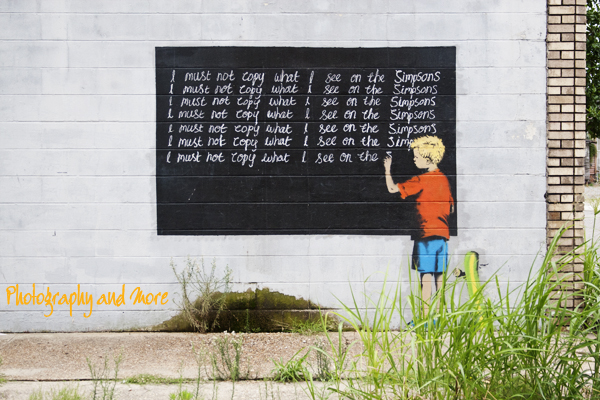 Simpsons - by Banksy in NoLa / street art photography