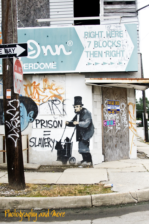 Abraham Lincoln - Graffiti by Banksy in New Orleans