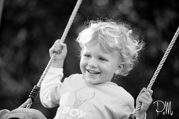 Little boy on swing | CT Children Photographer